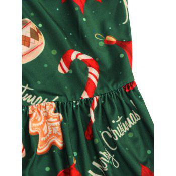 Merry Christmas Tree Print Maxi Dress - GREEN L