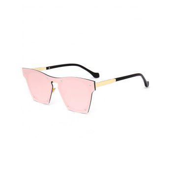 Vintage Metal Frame UV Protection Pilot Sunglasses - PINK PINK