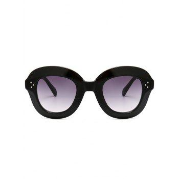 Full Frame Oval Sunglasses - BLACK GREY