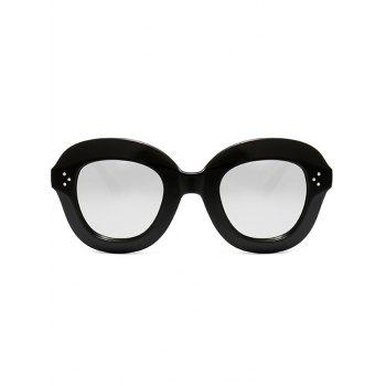 Full Frame Oval Sunglasses -  BLACK WHITE