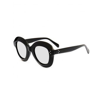 Full Frame Oval Sunglasses - BLACK WHITE BLACK WHITE