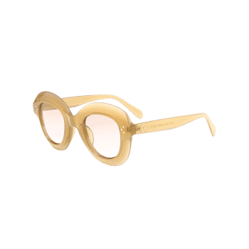 Full Frame Oval Sunglasses -  OFF WHITE