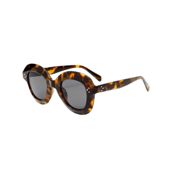 Full Frame Oval Sunglasses -  LEOPARD PRINT PATTERN