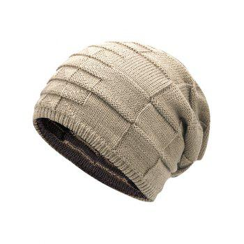 Reversible Color Block Knit Hat -  PALOMINO