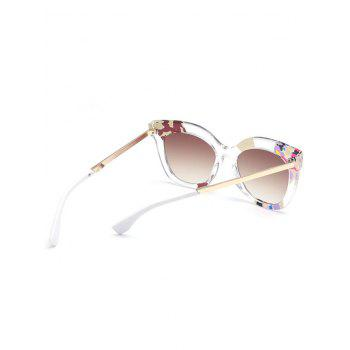 Color Pieces Design Butterfly Sunglasses -  TEA COLORED