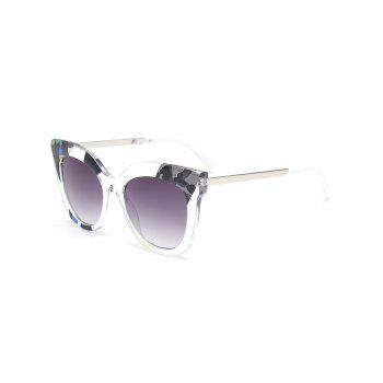 Color Pieces Design Butterfly Sunglasses - GRAY GRAY