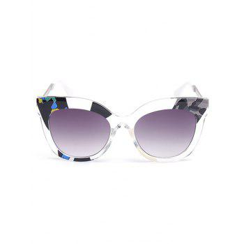 Color Pieces Design Butterfly Sunglasses -  GRAY