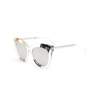 Color Pieces Design Butterfly Sunglasses - SILVER SILVER
