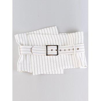 Big Pin Buckle High Waisted Corset Belt - STRIPE