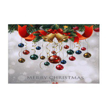 Bathroom Antiskid Christmas Ball Area Rug - COLORMIX W24 INCH * L35.5 INCH