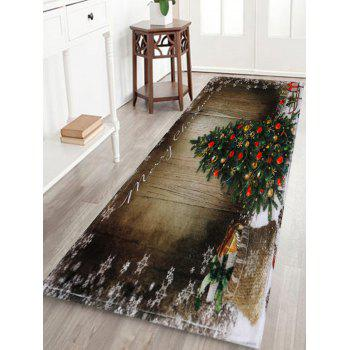 Bathroom Skidproof Christmas Tree Area Rug - BROWN W16 INCH * L47 INCH