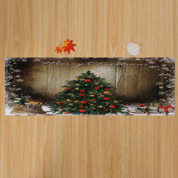 Bathroom Skidproof Christmas Tree Area Rug - BROWN BROWN