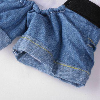 Pet Puppy Cat Change Costume Dog Denim Clothes - DENIM BLUE S