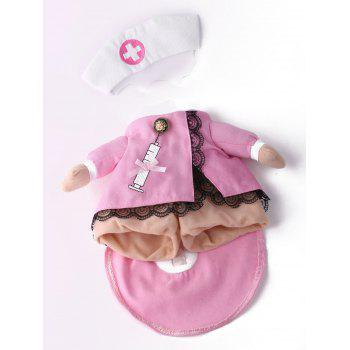 Pet Cat Nurse Costume Dog Cosplay Change Clothes - PINK M