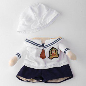 Dog Navy Costume Pet Cat Cosplay Change Party Clothes - WHITE S
