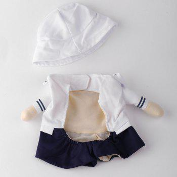 Dog Navy Costume Pet Cat Cosplay Change Party Clothes - WHITE XL