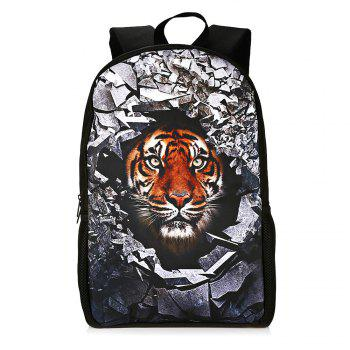 Animal Rubble 3D Print Backpack -  TIGER PRINT