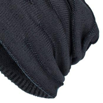 NY Double-Deck Thicken Knit Hat -  DARK GREY