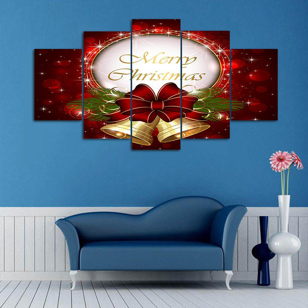 Christmas Bell Print Wall Art Split Canvas Paintings leopard pattern wall art split canvas paintings