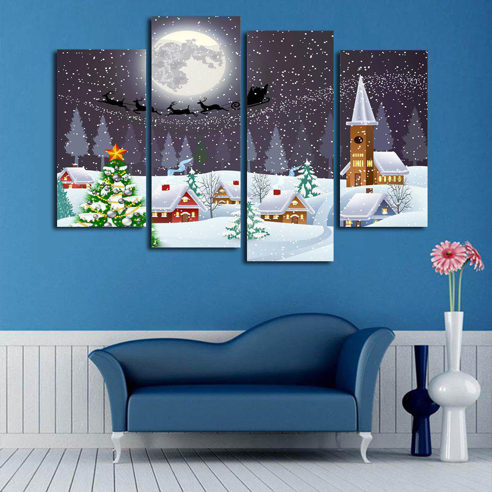 Wall Art Christmas Town Print Split Canvas Paintings wall art sunset pyramids printed unframed canvas paintings