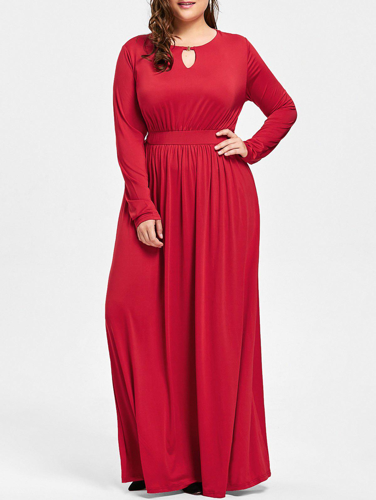 Plus Size Keyhole Maxi Dress от Dresslily.com INT
