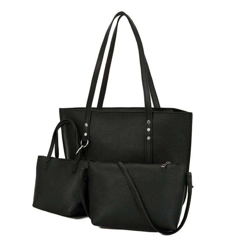 3 Pieces Shoulder Bag Set - BLACK