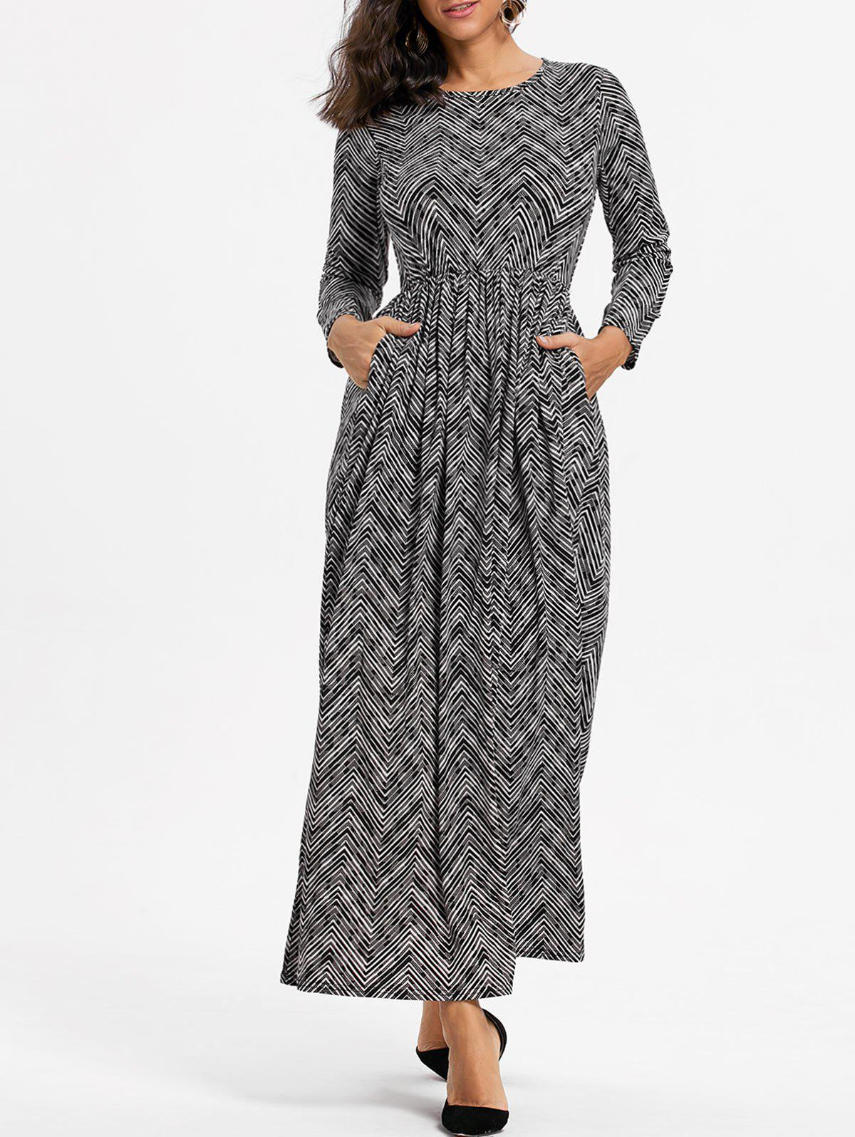 Zig Zag High Waist Maxi Dress pontoon21 zanu zag вокер купить