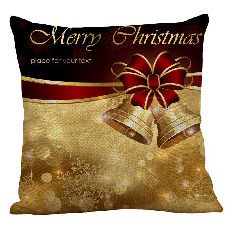 Christmas Bowknot Bells Printed Throw Pillow Case - COLORFUL W18 INCH * L18 INCH