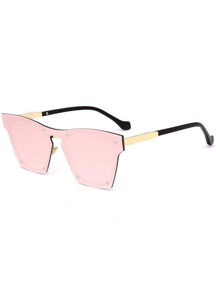 Vintage Metal Frame UV Protection Pilot Sunglasses - PINK