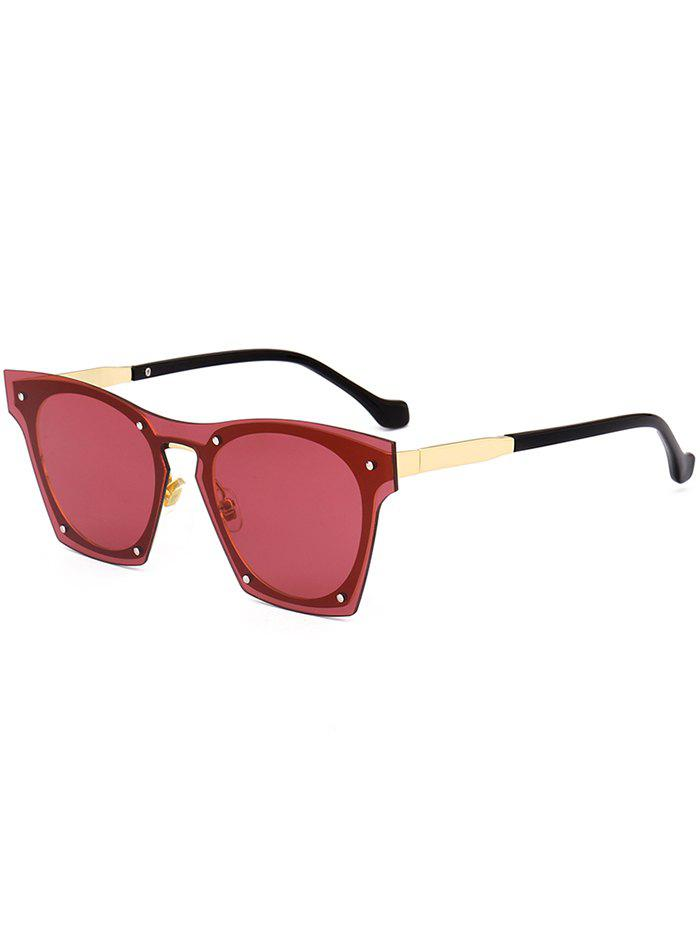 Vintage Metal Frame UV Protection Pilot Sunglasses - RED