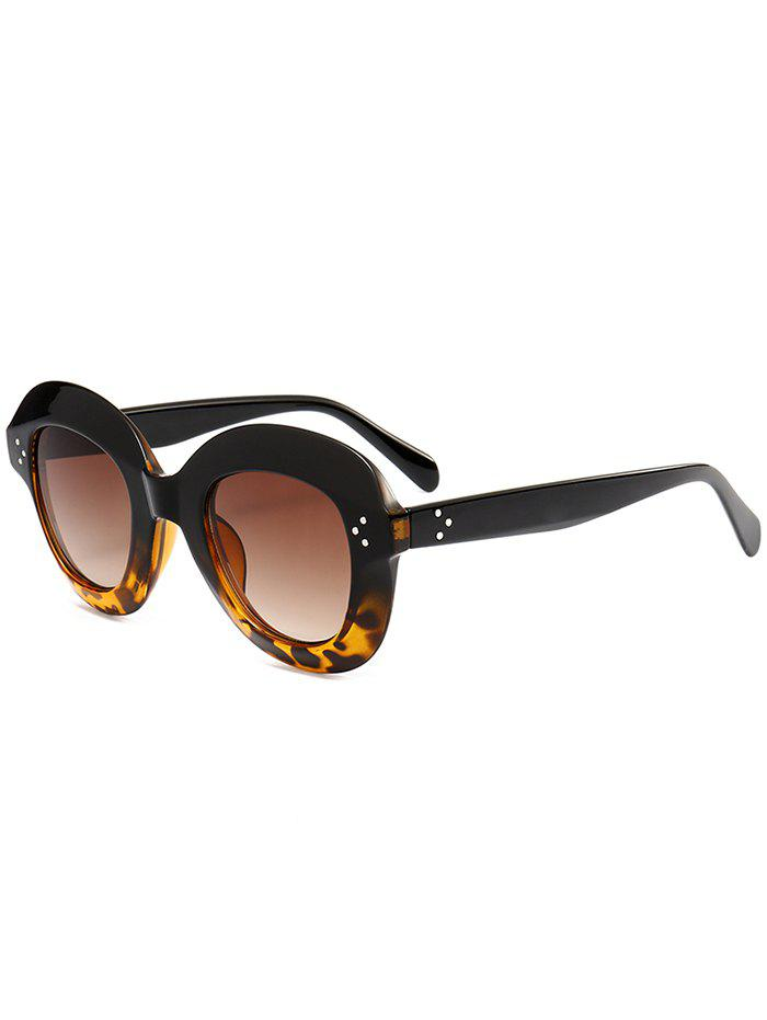 Full Frame Oval Sunglasses - LEOPARD/DARK BROWN