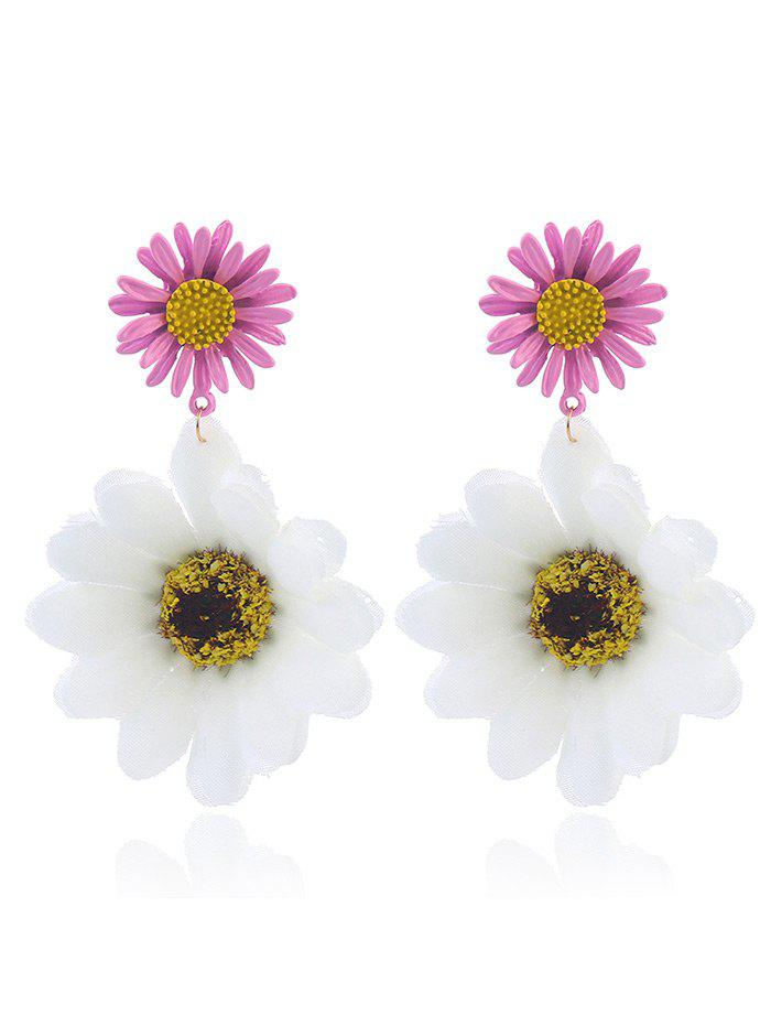 Sunflower Drop Earrings - WHITE