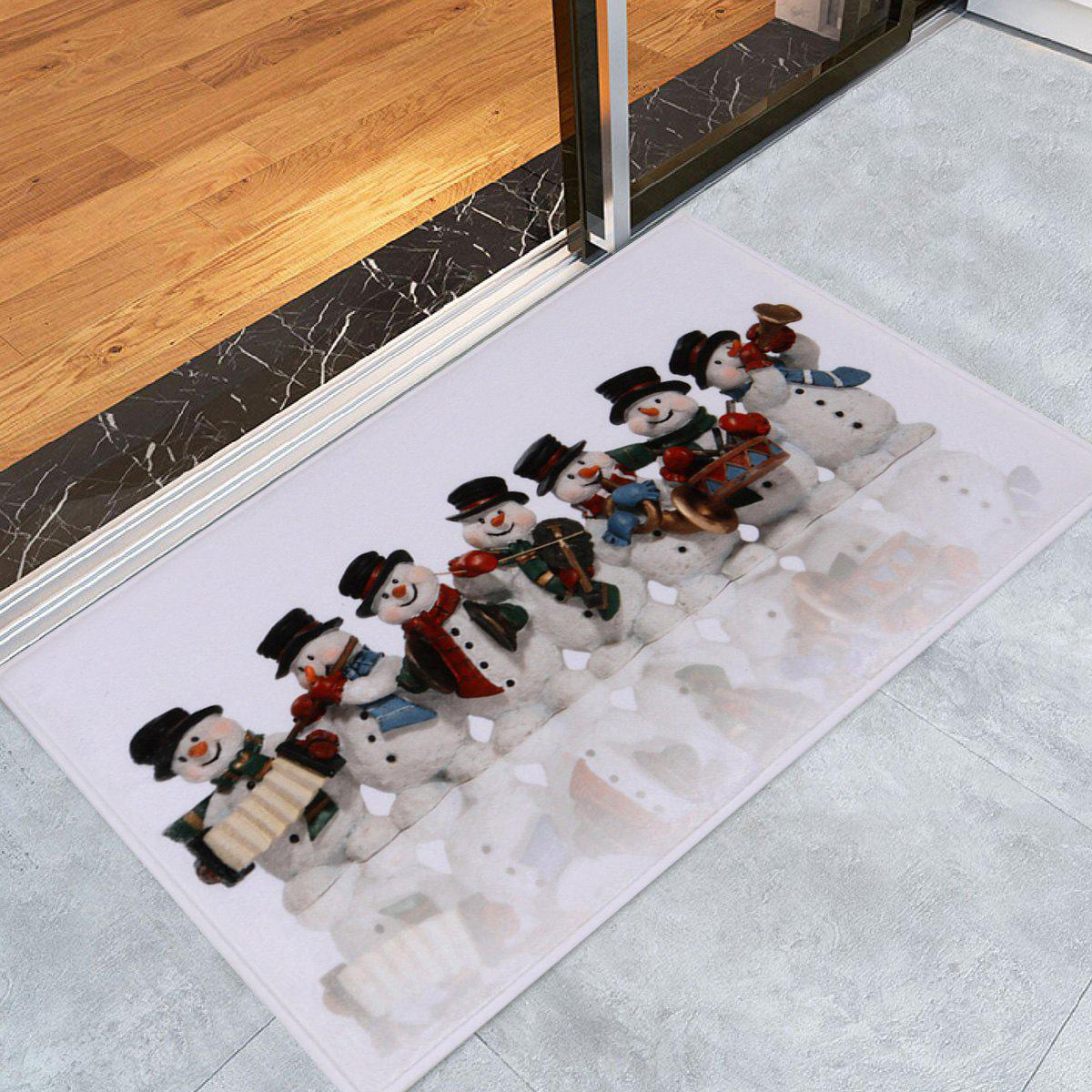 Christmas Snowman Band Skidproof Bath Mat christmas home decor snowman double table mat