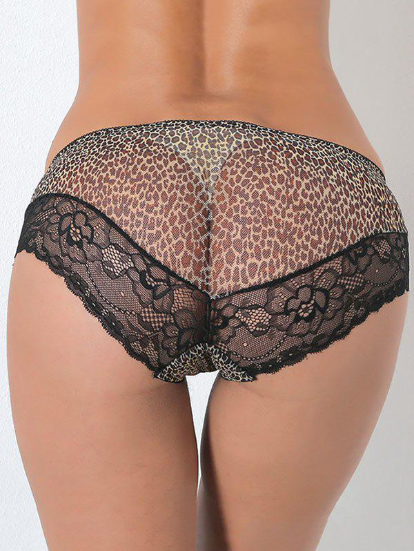 Leopard Lace Panties - LEOPARD ONE SIZE