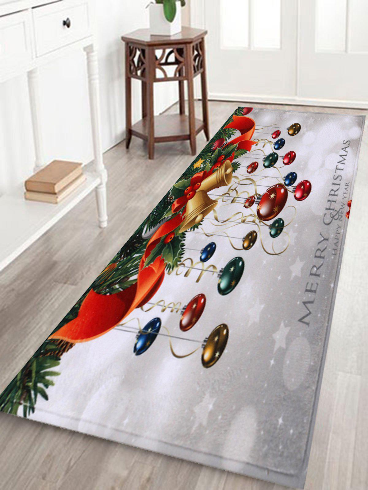 Bathroom Antiskid Christmas Ball Area Rug - COLORMIX W24 INCH * L71 INCH