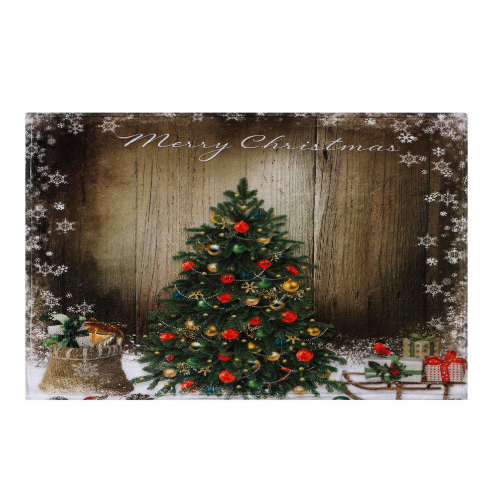 Bathroom Skidproof Christmas Tree Area Rug - BROWN W24 INCH * L35.5 INCH