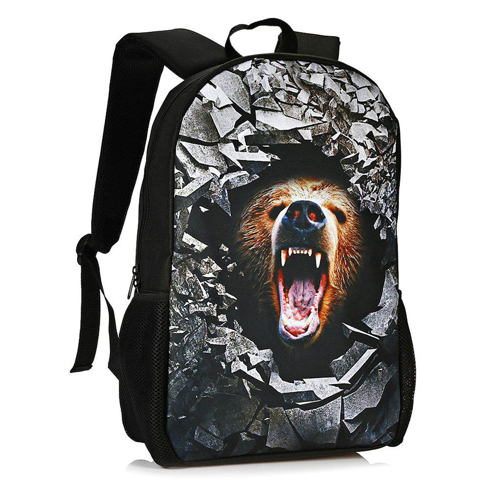 Animal Rubble 3D Print Backpack - LIGHT BROWN