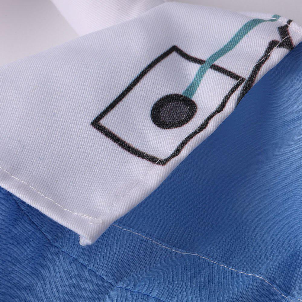 Pet Cat Doctor Costume Dog Cosplay Party Change Clothes - BLUE/WHITE L