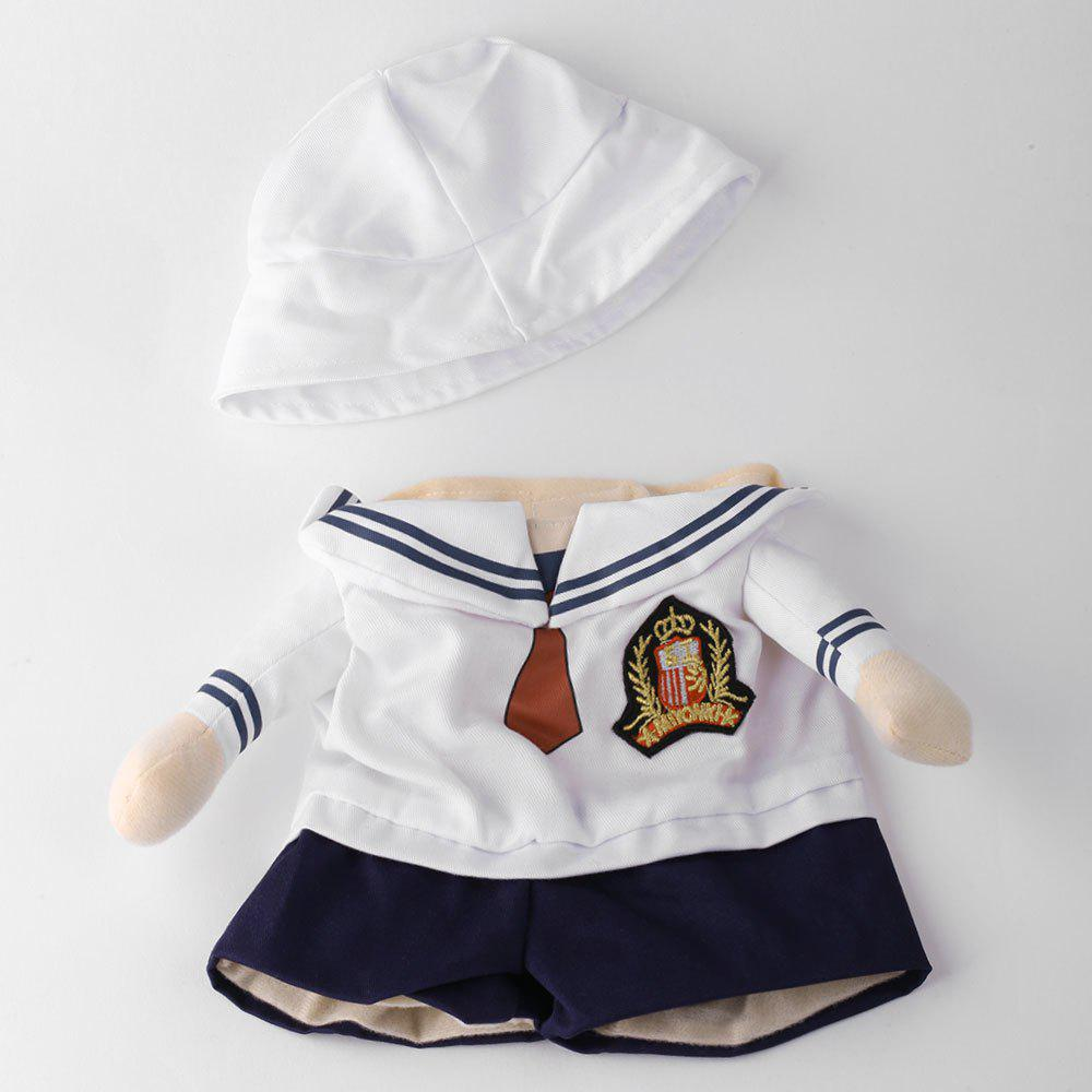 Dog Navy Costume Pet Cat Cosplay Change Party Clothes - WHITE L