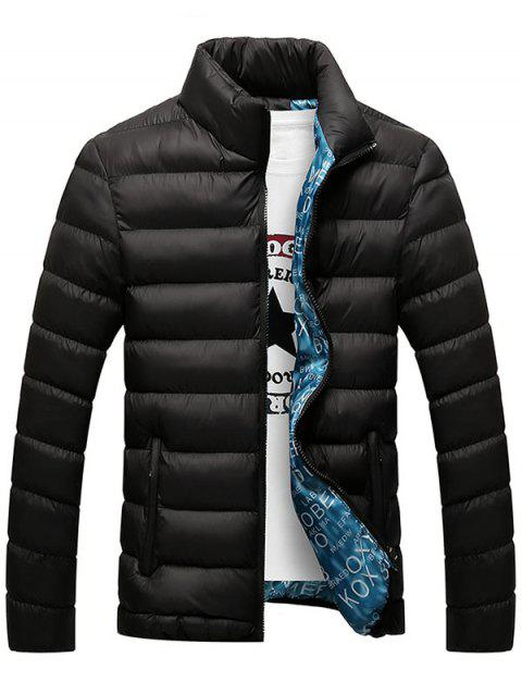 Veste décontractée Zipper Up Padded - Noir 3XL