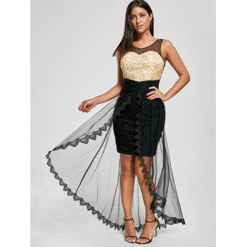 Glitter Mesh Tulle Prom Party Dress - 2XL 2XL