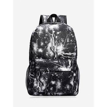 Padded Strap Lightning Printed Backpack