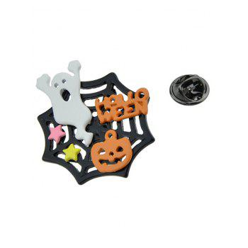Halloween Devil Ghost Pumpkin Cobweb Brooch - COLORMIX