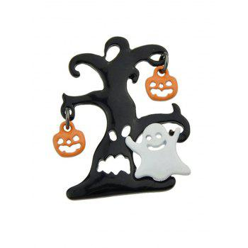 Halloween Diable Pumpkin Ghost Tree Brooch