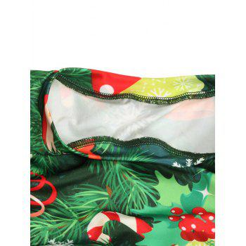 Christmas Tree Snowflake Print Maxi Tree - GREEN XL