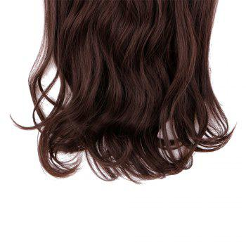 4Pcs/Lot Clip In Long Wavy Synthetic Hair Extensions -  BROWN