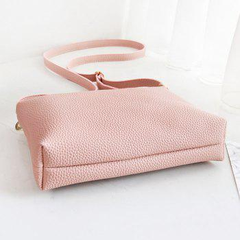 Faux Leather Crossbody Bag - PINK