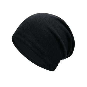 Autumn Plain Knit Hat - BLACK