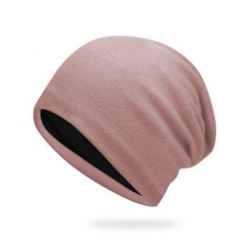 Autumn Plain Knit Hat - LIGHT PINK LIGHT PINK