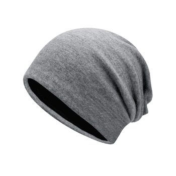 Autumn Plain Knit Hat -  LIGHT GREY